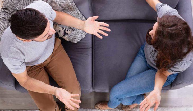 A couple going through a high-conflict divorce